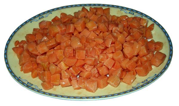 Καρότα κύβοι